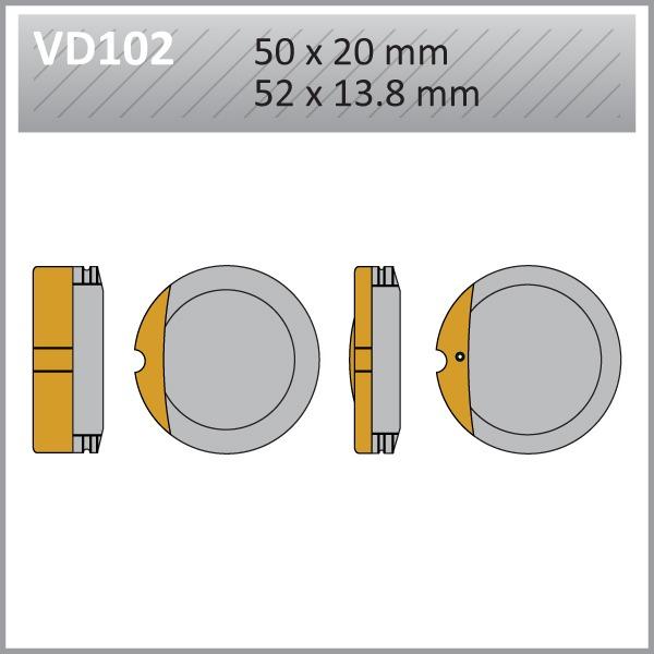VES PADS S-MET VD102 FA13